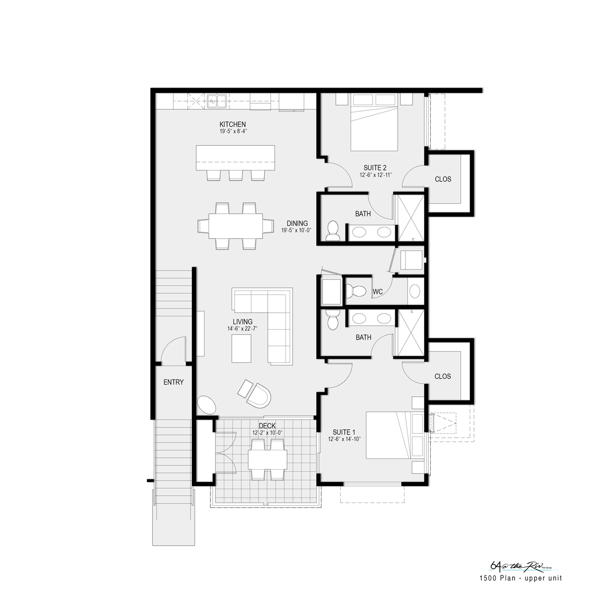 1500 Floorplan Upper Unit